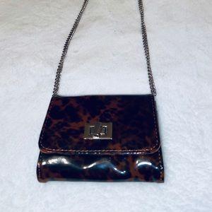 Mini Animal Print Chain Crossbody Bag